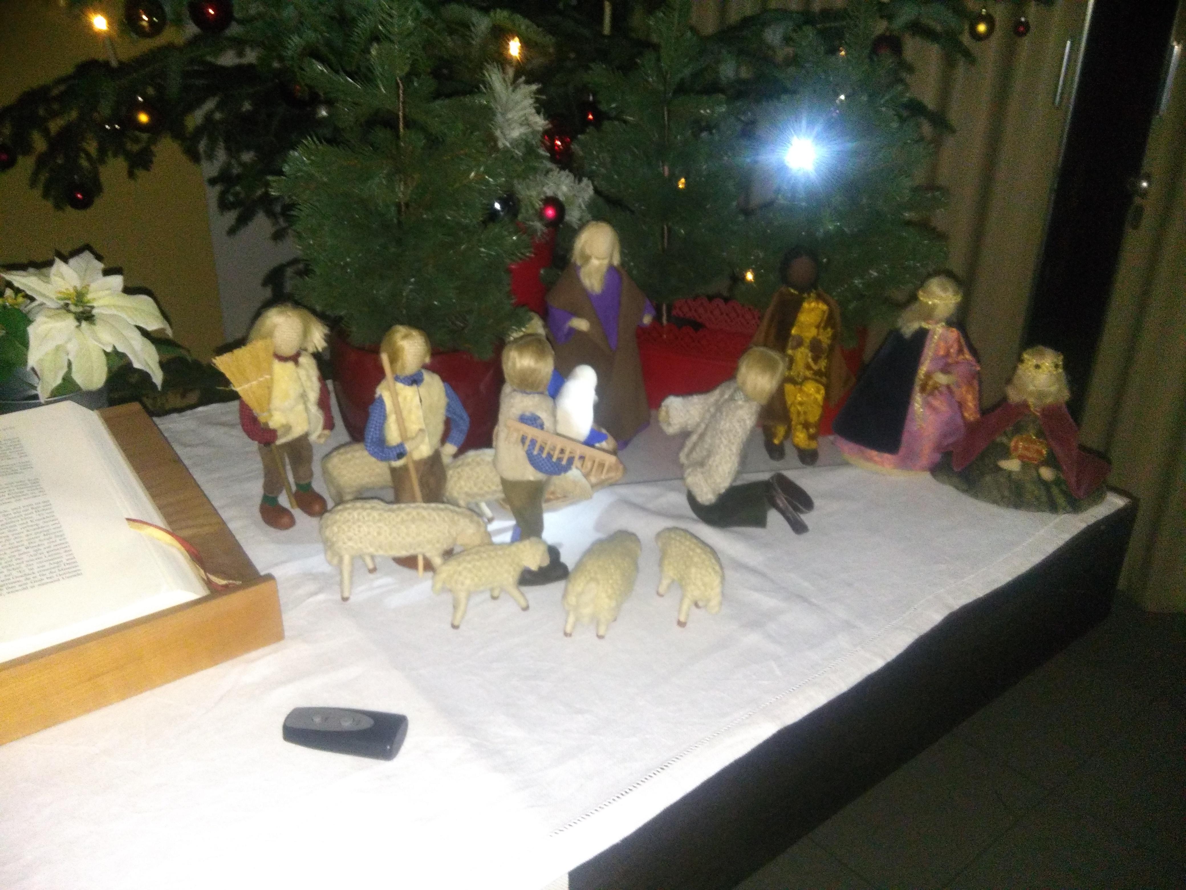 Krippe am Altar
