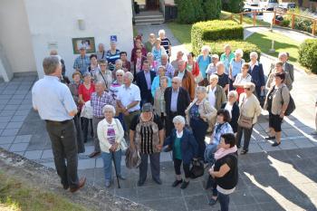 Besuch der Pensionisten aus Weppersdorf - Begrüßung